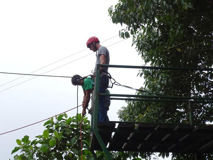 Ziplining, El Monte Sustainable Lodge, Mindo