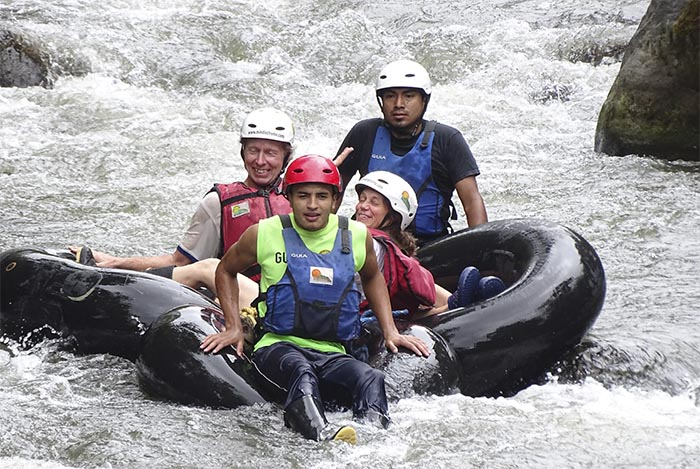 White-water tubing, El Monte Sustainable Lodge, Mindo