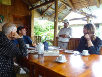 Breakfast, Long-Wattled Umbrella Bird, El Monte Sustainable Lodge, Mindo