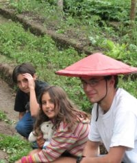 Young Volunteers, El Monte Sustainable Lodge, Mindo Ecuador