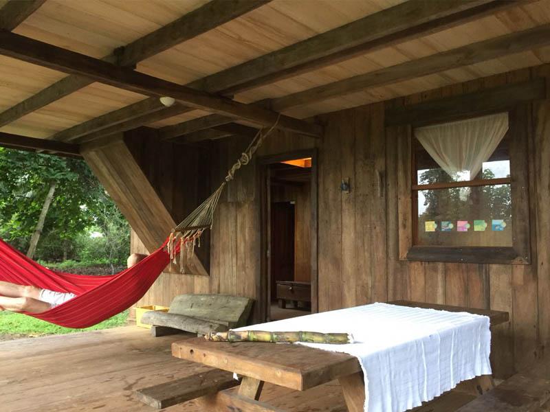 Downstairs Entrance Casa Tenorio Bolivar Ecuador El Monte Sustainable Lodge