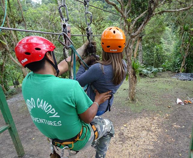 Ziplining in Miindo Ecuador El Monte Sustainable Lodge